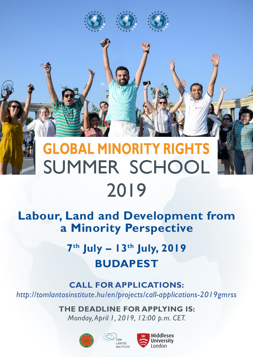 Call for Applications: 2019 Global Minority Rights Summer School